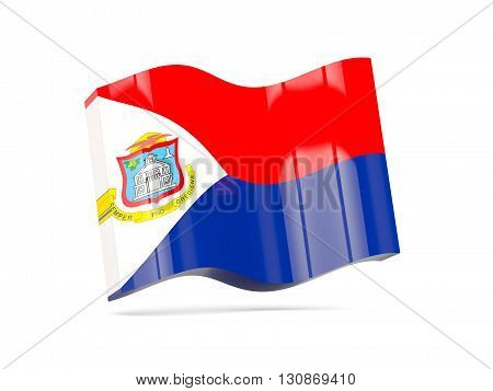 Wave Icon With Flag Of Sint Maarten