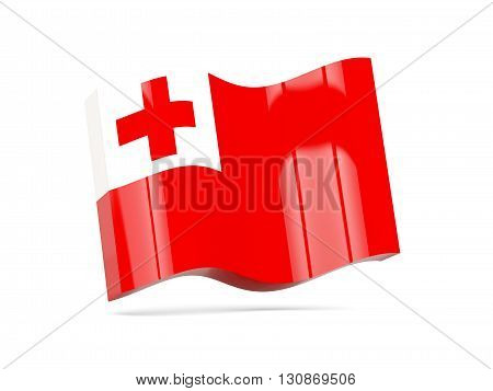 Wave Icon With Flag Of Tonga