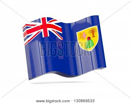 Wave Icon With Flag Of Turks And Caicos Islands