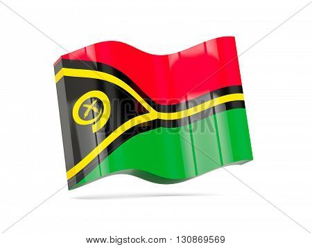 Wave Icon With Flag Of Vanuatu
