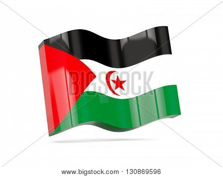 Wave Icon With Flag Of Western Sahara
