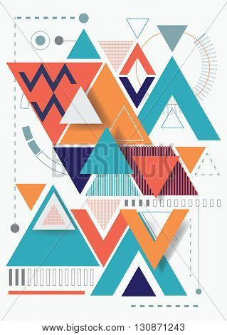 Vector abstract background with triangle on white background