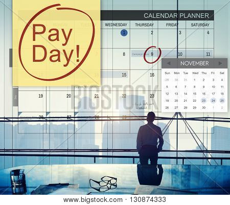 Pay Day Accounting Banking Budget Economy Concept