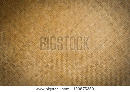 The Bamboo design weave brown background .