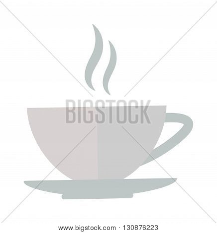 Coffee cup front view isolated on white. Cup coffee front view vector and cup hot coffee view. Cup coffee front view hot drink espresso and brown cup coffee cappuccino, black mocha color mug.