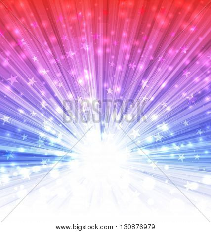 Illustration Abstract Background for Happy Independence of United States of America, 4 th of July - Vector