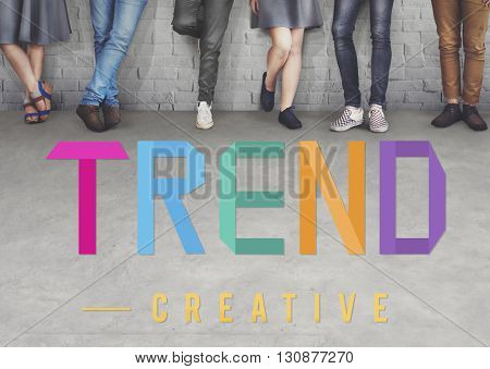 Trend Trending Trendy Fashion Forecast Design Concept