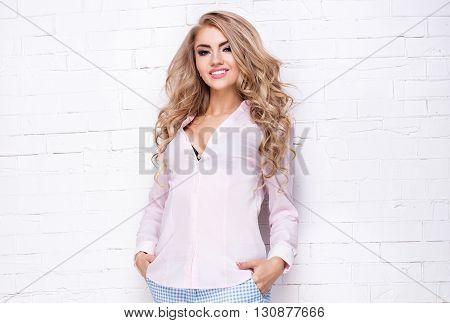 Fashionable Young Girl Posing.