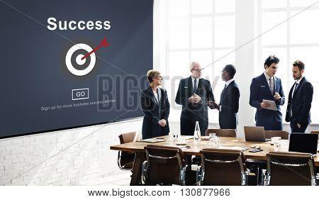 Success Mission Motivation Homepage Concept