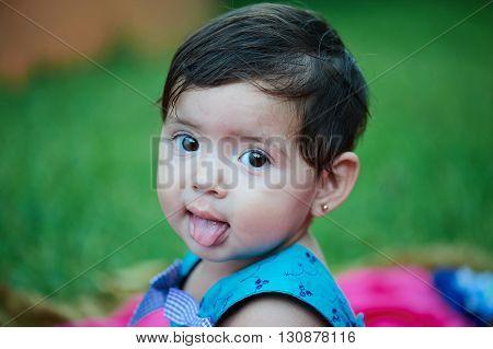 Girl Show Tongue