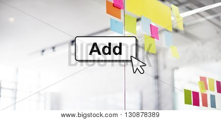 Click Add Button Interface Concept