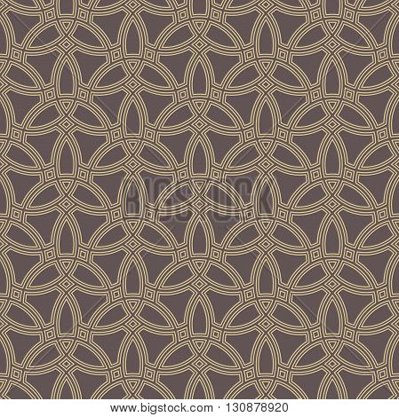 Seamless golden ornament. Modern stylish geometric pattern with repeating elements