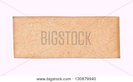 wood frame. Surface plywood texture on white background