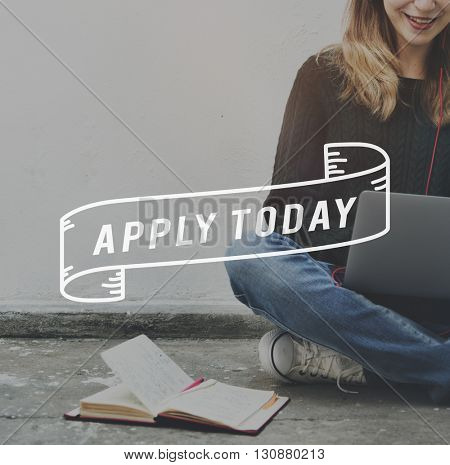 Apply Today Application Employment Human Resources Concept