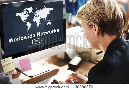 Worldwide Networks Connection Globalization Technology Concept