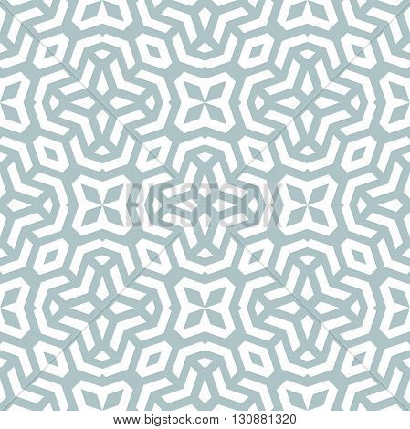 Seamless light blue and white ornament. Modern stylish geometric pattern with repeating elements