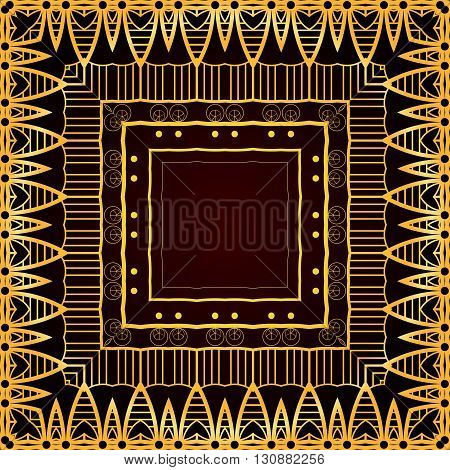 Seamless luxurious gold vintage texture. Vector background for your creativity