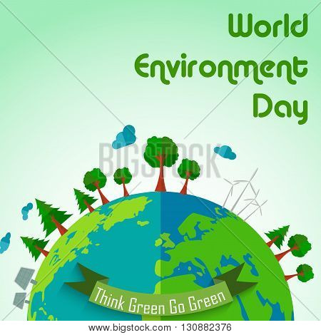 Vector illustration of World environment day concept earth globe background