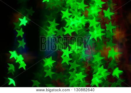 Blurred image of festive lights that can be used as background