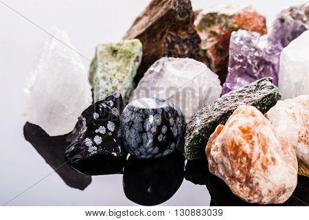 Semi Precious Gems Macro