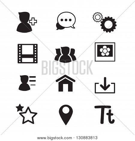 Social Network icons set Vector illustration graphic design concept symbol