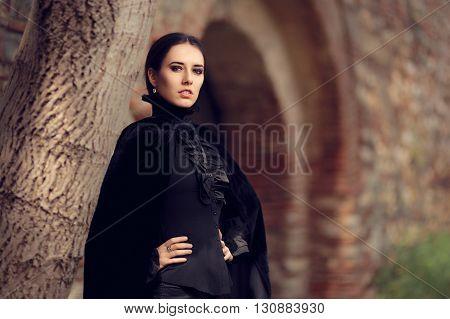 Portrait of Gothic Dark Princess in her Kingdom