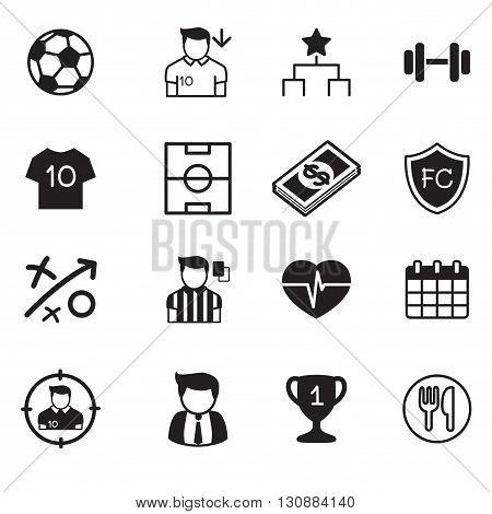 Soccer & football club icons set graphic design concept symbol