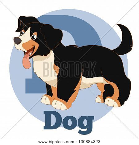 Vector image of the ABC ABC Cartoon Dog