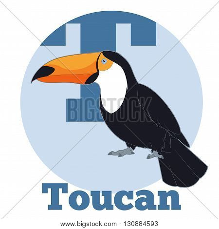Vector image of the ABC Cartoon Toucan