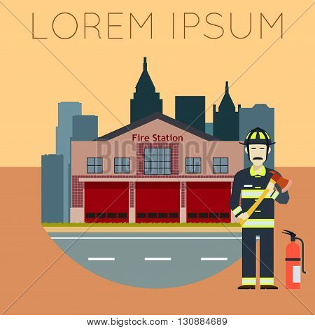 Vector image of the Fire Station Banner