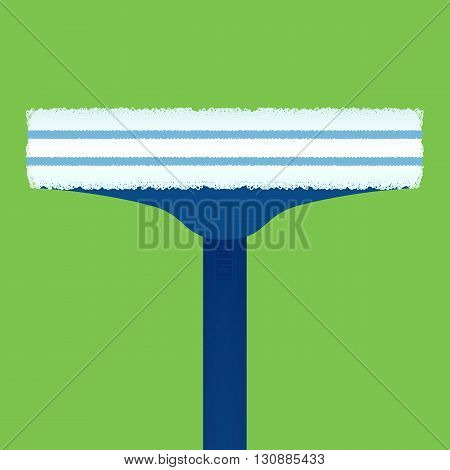 Flat illustration brushes for washing windows. Vector element for your design and infographics