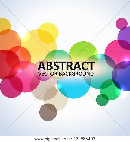 Abstract colorful spectrum light background with circles