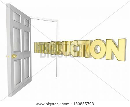 Introduction Door Opening Welcome Word 3d Animation