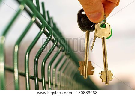 Private property and the keys to the house