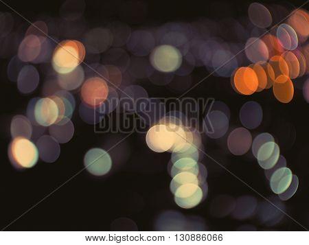 Light bokeh background with vintage filter effect