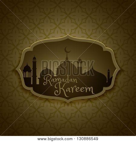 islamic ramadan festival greeting design vector design illustration
