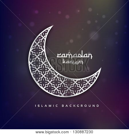 crescent moon shape with abstract pattern vector design illustration
