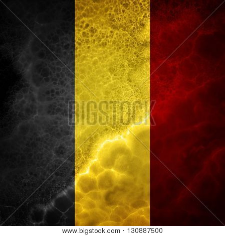 Flag of Belgium. Amazing stone texture with multicolor stripes.