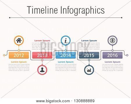 Timeline infographics design template, workflow or process diagram, flowchart, vector eps10 illustration