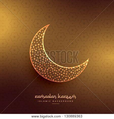 beautiful moon design in golden background vector design illustration