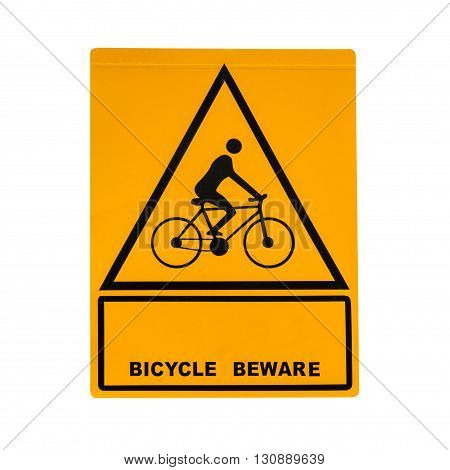 Bike sign isolated on a white background.