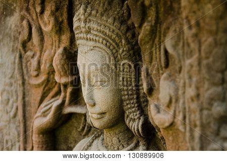 Apsara dancer in Angkor Wat, Siem Reap, Cambodia