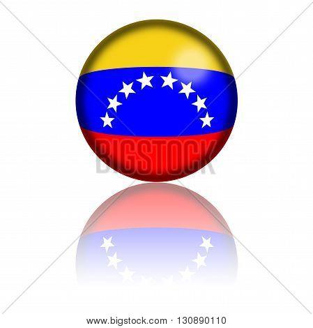 Venezuela Flag Sphere 3D Rendering