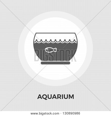 Aquarium Icon Vector. Flat icon isolated on the white background. Editable EPS file. Vector illustration.