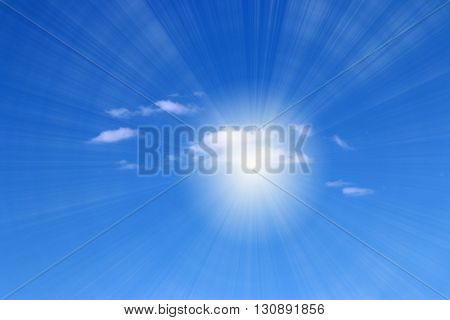 clouds on the sunny sky as a heavenly landscape
