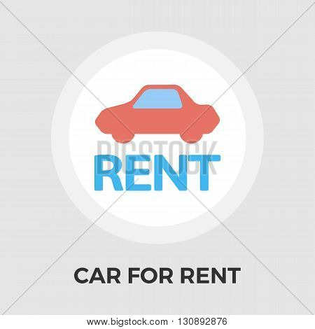 Car for rent icon vector. Flat icon isolated on the white background. Editable EPS file. Vector illustration.