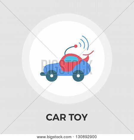 Car toy icon vector. Flat icon isolated on the white background. Editable EPS file. Vector illustration.