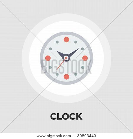 Clock icon vector. Flat icon isolated on the white background. Editable EPS file. Vector illustration.