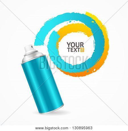 Spray Can Write Speech Bubble. Vector illustration