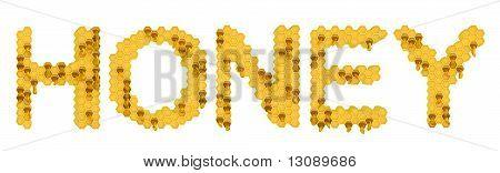 Honey: Yellow Honeycomb Letters